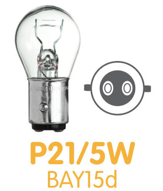 P21/5W - BAY15d