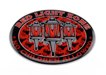 RED LIGHT DISTRICT ZONE 3D STICKER