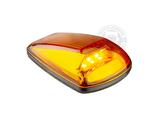 LED TOPLIGHT / MARKER LAMP - 9-32V - ORANGE GLASS_