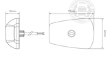 LED TOPLIGHT / MARKER LAMP - 9-32V - CLEAR GLASS_