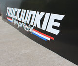 "MUDFLAP PLASTIC- TRUCKJUNKIE ""WE SHARE YOUR PASSION!""_"