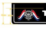 MUDFLAP - TRUCKJUNKIE HOLLAND FLAGGS  - THE ONLINE TRUCKSHOP 250 X 40/30_