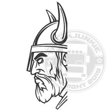 VIKING HEAD - WINDOW STICKER