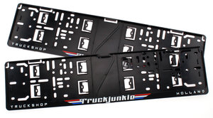 TRUCKJUNKIE TRUCKSHOP HOLLAND - FLAGS - LICENSE PLATE HOLDER
