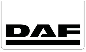 MUDFLAP FRONT BUMPER WHITE - BLACK PRINT DAF