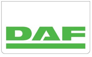 MUDFLAP FRONT BUMPER WHITE - PRINT DAF GREEN