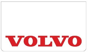 MUDFLAP FRONT BUMPER WHITE - PRINT VOLVO RED