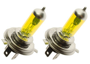 H4 YELLOW  24 volt 70W