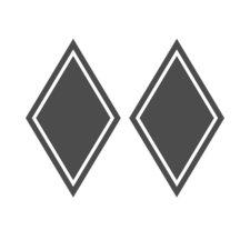 CORNER SHIELD STICKER DIAMOND SHAPE