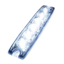 ULTRA THIN FLASHER - 6 LED - WHITE