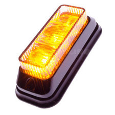 FLASHER 3 LED - TILTED - ORANGE