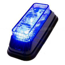 FLASHER 3 LED - TILTED - BLUE
