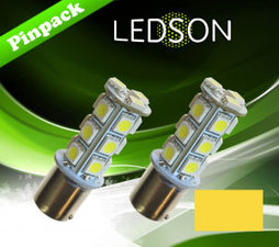 LED-LAMP YELLOW/AMBER 360 P21W 18SMD BA15s