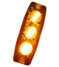 ULTRA THIN FLASHER - 3 LED - ORANGE
