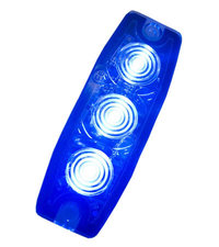 ULTRA THIN FLASHER - 3 LED - BLUE