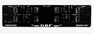 DAF - EINDHOVEN  LICENSE PLATE HOLDER