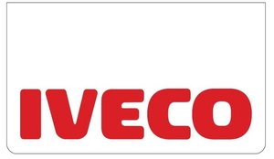 MUDFLAP FRONT BUMPER WHITE - RED PRINT IVECO