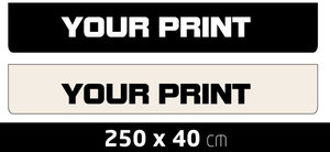 MUDFLAP LARGE - OWN PRINTING - 250 X 40 CM