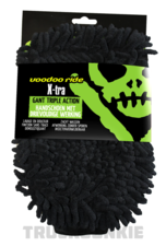 Xtra Wash mitt - triple action - VooDoo ride