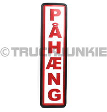 PAHAENG SIGN RED - 40X10CM
