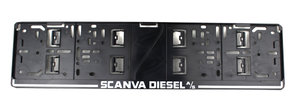 SCANVA DIESEL A/S - LICENSE PLATE HOLDER