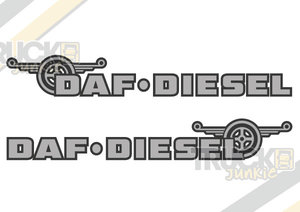 DAF DIESEL - TWO TONE STICKER