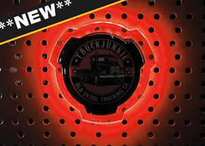 RED - ILLUMINATED EMBLEM - SUITABLE FOR SCANIA