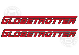 GLOBETROTTER - TWO TONE STICKER