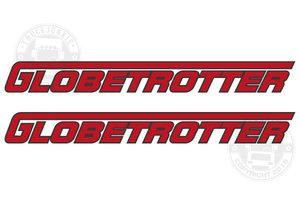 GLOBETROTTER - TWO TONE STICKER
