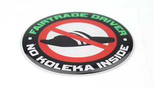 FAIRTRADE DRIVER - 3D DELUXE FULL PRINT STICKER