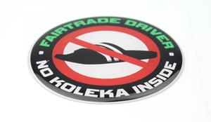 FAIRTRADE DRIVER - 3D DELUXE FULL PRINT STICKER