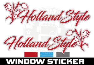 TULIP HOLLAND STYLE - WINDOWSTICKER