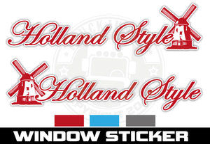 MILL HOLLAND STYLE - WINDOWSTICKER