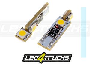 XENON WHITE - 4xSMD LED 24V - W3W / W5W