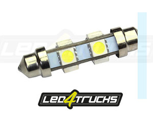 XENON WHITE - 6xSMD LED 24-28V - FESTOON