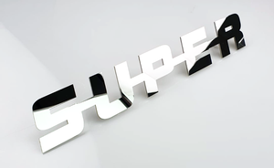 SUPER EMBLEM - POLISHED STAINLESS STEEL