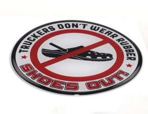 SHOES OUT! - 3D DELUXE FULL PRINT STICKER