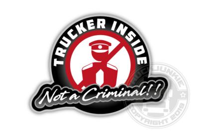 TRUCKER INSIDE NOT A CRIMINAL