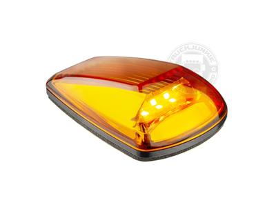 LED TOPLIGHT / MARKER LAMP - 9-32V - ORANGE GLASS