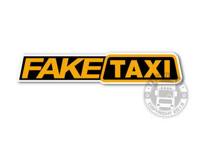 FAKE TAXI - FULL PRINT STICKER