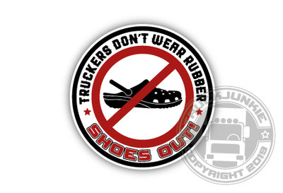 TRUCKERS DON'T WEAR RUBBER  STICKER VOOR VRACHTWAGEN