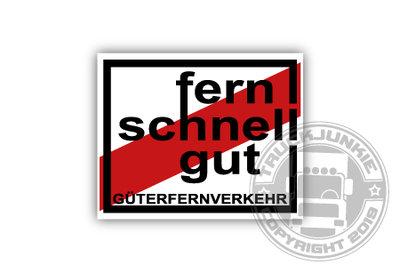 FERN SCHNELL GUT STICKER