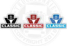 V8 classic sticker Scania old skool